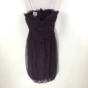 Vera Wang Maid Purple Mini Dress